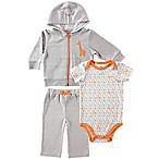 BabyVision® Yoga Sprout Size 6-9M Giraffe Bodysuit, Hoodie and Pant Set in Grey