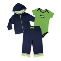 Yoga Sprout Size 18-24M 3-Piece Turtle Hoodie, Bodysuit, and Pant Set in Green