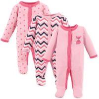Luvable Friends® Preemie 3-Pack Foxy Sleep & Play Bodysuits