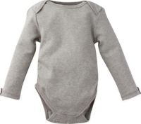 MiracleWear Size 12M Posheez Snap'n Grow Long Sleeve Bodysuit in Light Grey