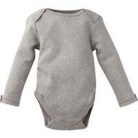 MiracleWear Size 6M Posheez Snap'n Grow Long Sleeve Bodysuit in Light Grey