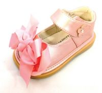 Mooshu Trainers Size 5 Ready Set Bow Mary Jane Shoe in Rose Gold