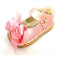 Mooshu Trainers Size 3 Ready Set Bow Mary Jane Shoe in Rose Gold