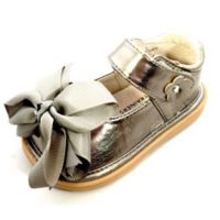 Mooshu Trainers Size 9 Ready Set Bow Mary Jane Shoe in Pewter