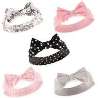 Hudson Baby® Size 0-24M 5-Pack Polka Dot Headbands in Black/Pink/White