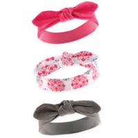 Yoga Sprout Size 0-24M 3-Pack Medallion Headbands in Grey/Pink/White