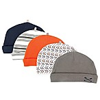 Yoga Sprout Size 0-6M 5-Pack Arrow Caps in Orange/Grey