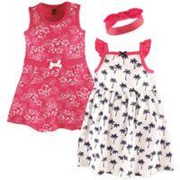 Hudson Baby® Size 0-3M 3-Piece Tropical Dress and Headband Set