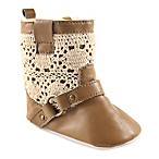 Luvable Friends® Size 0-6M Crochet Lace Boot in Tan
