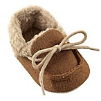 Luvable Friends® Size 0-6M Cozy Moccasin Slipper in Chestnut