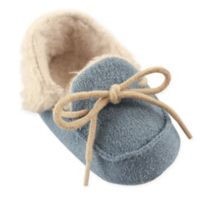 Luvable Friends® Size 6-12M Cozy Moccasin Slipper in Blue