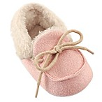 Luvable Friends® Size 0-6M Cozy Moccasin Slipper in Pink