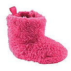 Luvable Friends® Size 0-6M Sherpa Boot in Dark Pink