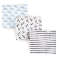 Hudson Baby® 3-Pack Paper Airplanes Muslin Swaddle Blankets