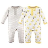Hudson Baby® Size 6-9M 2-Pack Bumble Bees Union Suits
