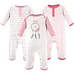 Hudson Baby® Size 0-3M 3-Pack Dream Union Suits