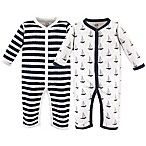 Hudson Baby® Size 0-3M 2-Pack Sailboats Union Suits