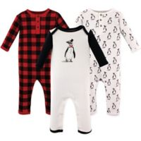 Hudson Baby® Size 3-6M 3-Pack Mr. Penguin Long Sleeve Union Suits