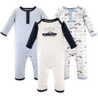 Hudson Baby® Size 12-18M 3-Pack Cars Union Suits