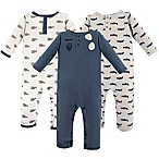 Hudson Baby® Size 9-12M 3-Pack Aviator Long Sleeve Union Suits