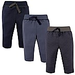 Hudson Baby® Size 12-18M 3-Pack Track Pants in Navy/Grey