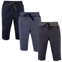 Hudson Baby® Size 9-12M 3-Pack Track Pants in Navy/Grey