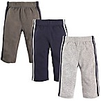 Hudson Baby® Size 0-3M 3-Pack Athletic Pants in Blue/Grey