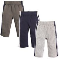 Hudson Baby® Size 6-9M 3-Pack Athletic Pants in Blue/Grey