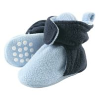 Luvable Friends® Size 12-18M Scooties Fleece Booties in Light Blue/Navy