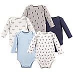 Hudson Baby® Size 0-3M 5-Pack Planes Bodysuits in Blue