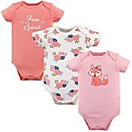 Hudson Baby® Size 0-3M 3-Pack Short Sleeve  Free Spirit  Bodysuits in Pink