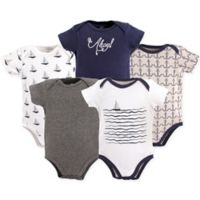 Hudson Baby® Size 6-9M 5-Pack Sailboat Bodysuits in Blue