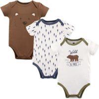 Hudson Baby® Size 12-18M 3-Pack Wild & Free Short Sleeve Bodysuits