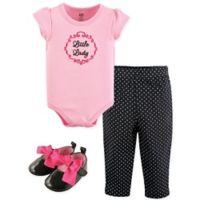 "Luvable Friends® Preemie 4-Piece ""Little Lady"" Bodysuit, Pant, Shirt and Cap Set In Pink"