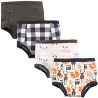 Hudson Baby® Size 4T 4-Pack Woodland Toddler Training Pants in Brown