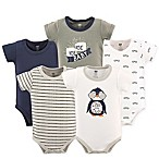 Hudson Baby® Size 0-3M 5-Pack Chill Dude Short Sleeve Bodysuits