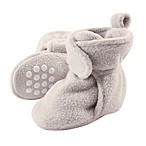Luvable Friends® Size 6-12M Scooties Fleece Booties in Light Grey