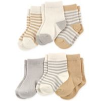 Touched by Nature Size 0-6M 6-Pack Socks in Neutral