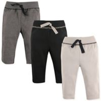 Hudson Baby® Size 12-18M 3-Pack Track Pants in Black/Grey