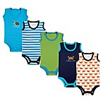Luvable Friends Size 0-3M 5-Pack Crab Sleeveless Bodysuits