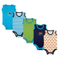 Luvable Friends Size 9-12M 5-Pack Crab Sleeveless Bodysuits