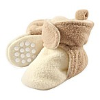 Luvable Friends™ Size 0-6M Scooties Fleece Booties in Cream/Tan