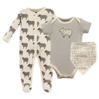 Hudson Baby® Size 6-9M 3-Piece Sheep Layette Set