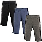 Hudson Baby® Size 0-3M 3-Pack Athletic Pants in Black