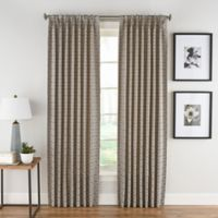 Boratta Geo 84-Inch Pinch Pleat with Back Tab Window Curtain Panel in Mocha