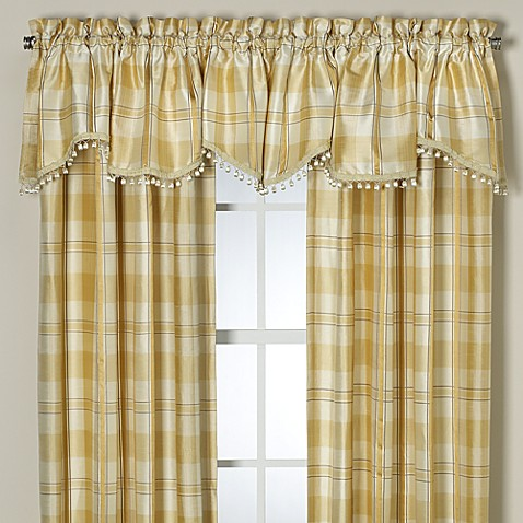 Palais Royale™ Silk Amore Window Valance in Ivory