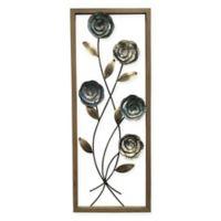 StyleCraft Floral I 14-Inch x 35-Inch Metal Panel Wall Art