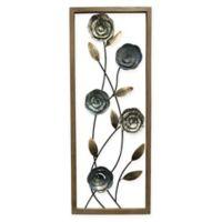 StyleCraft Floral II 14-Inch x 35-Inch Metal Panel Wall Art