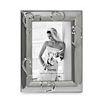 Heart Design Silverplated 8  x 10  Wedding Photo Frame