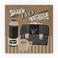 Trademark Fine Art Lets Do Coffee 18-Inch Square Canvas Wall Art